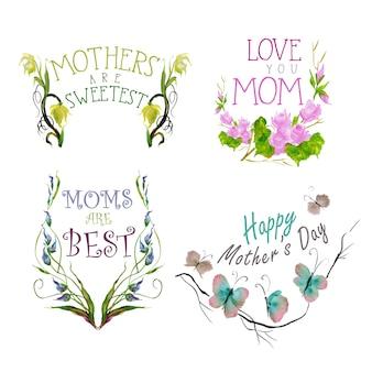 Mutter Liebe Elemente Sammlung