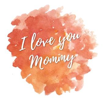 Mütter-Tageskarte