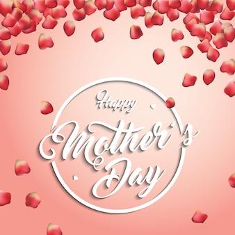 Muttertag Hintergrund mit Blütenblättern