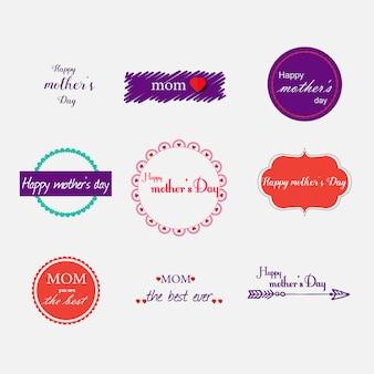 Muttertags-Etiketten Sammlung