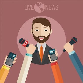 Nachrichten Hintergrund-Design