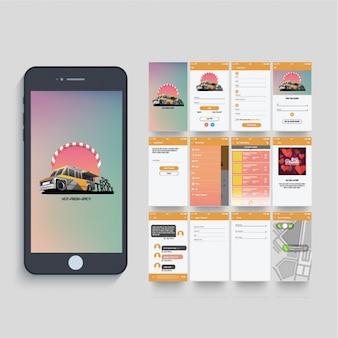 Nahrungsmittel-LKW-App