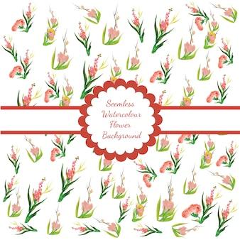 Nahtlose Aquarell Blume Hintergrund