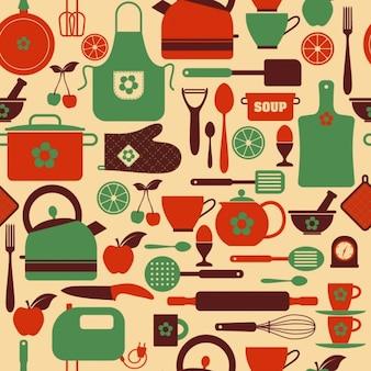 Nahtlose Küche Muster