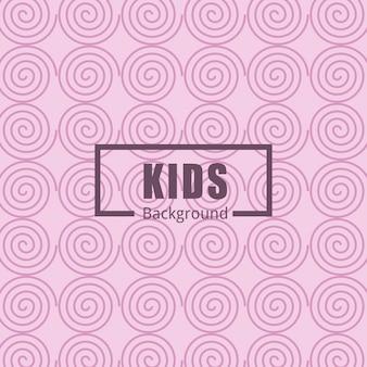 Nahtlose Muster mit süßen Elementen für Kinder