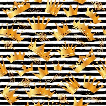 Nahtlose Muster von Kronen