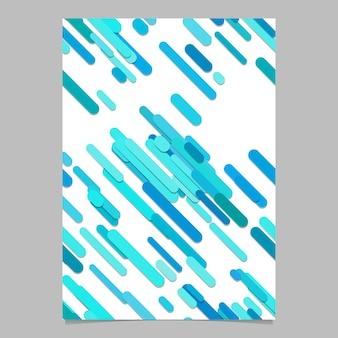 Nahtlose zufällige diagonale Streifen Muster Flyer Vorlage - Vektor-Dokument Hintergrund Illustration mit Streifen in hellblauen Tönen