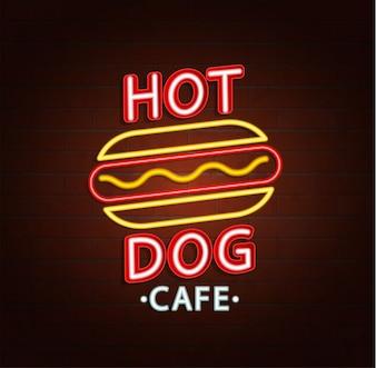 Neonzeichen des Burgercafés