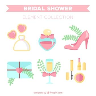 Nette Hochzeit Accessoires in Pastellfarben