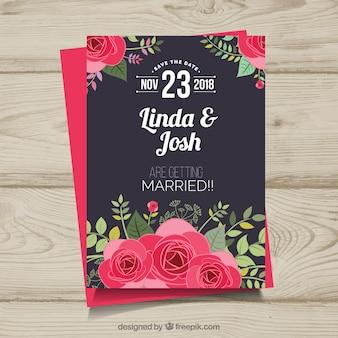 Nette Hochzeitseinladungsschablone