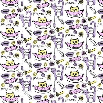 Nette Katze Muster