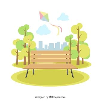 Nette Landschaft des Parks