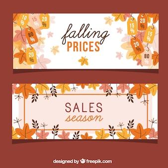 Nette Packung Banner für Herbst Verkauf