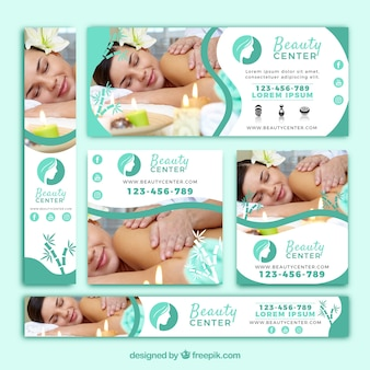 Nette Packung Beauty Center Banner