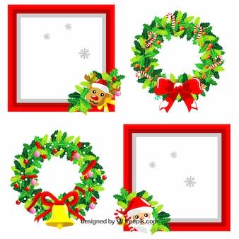 Nette Packung Weihnachten Rahmen