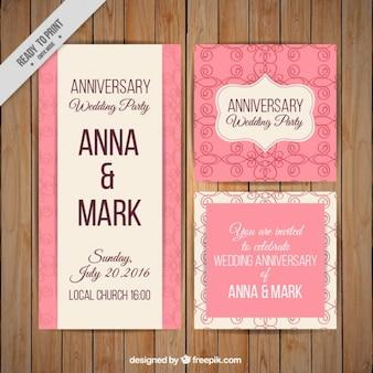Nette rosa Hochzeitseinladungen