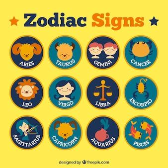 Nette Tierkreiszeichen