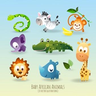 Nette und lustige Tiere