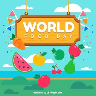 Nette Welt Essen Tag Hintergrund