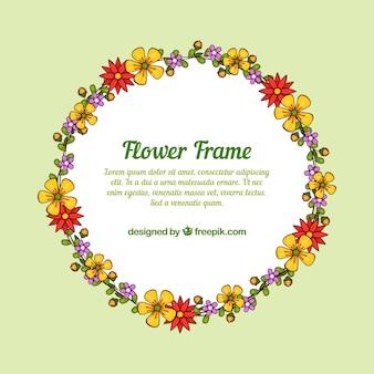 Netter Blumenrahmen