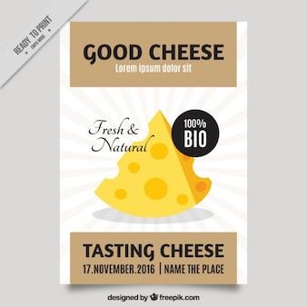 Netter Flyer für eine Käseverkostung