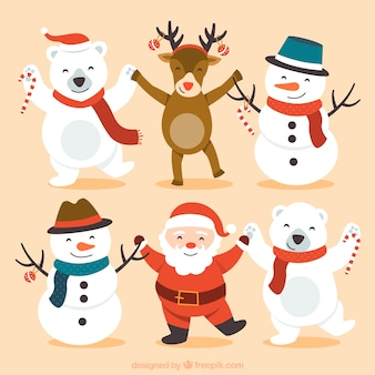Netter glücklicher Weihnachts Zeichen