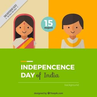 Netter Hintergrund für Tag der Unabhängigkeit von Indien
