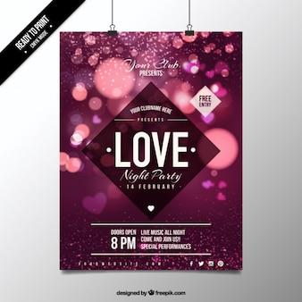 Netter Lichter Valentine Plakat