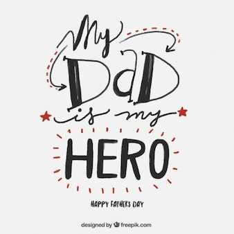 Netter Vaters Tag Schriftzug