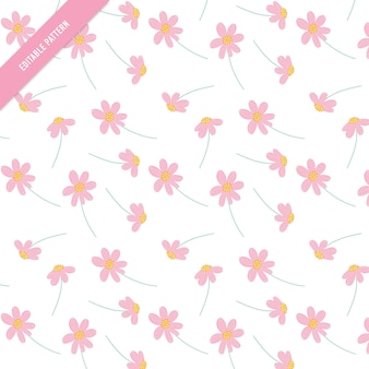 Nettes Blumenmuster. Blätter und Blumen Hand gezeichnet nahtlose Muster.