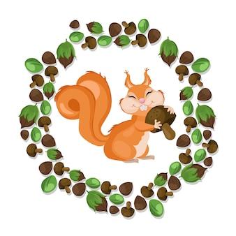 Nettes Eichhörnchenhintergrund