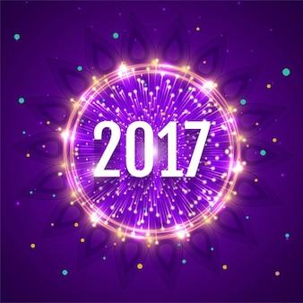 Neue Jahr 2017 glänzend Hintergrund