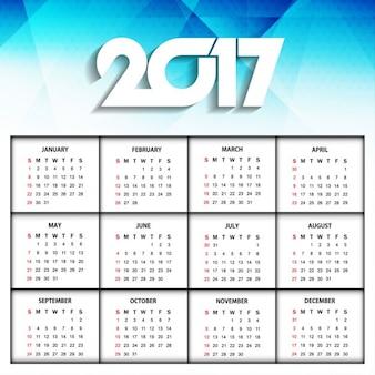 Neues Jahr 2017 moderne Kalender-Design