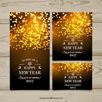 Neues Jahr Banner mit abstrakten Design
