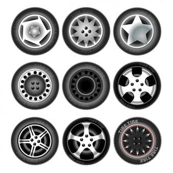 Neun Reifen