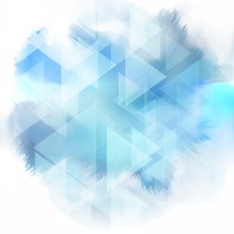 Niedrige Poly-Design auf einer Aquarell-Textur