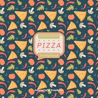 Nizza Pizza Hintergrund und Zutaten