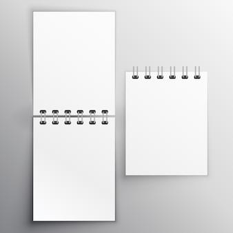 Notiz-Tagebuch Mockup Design-Vorlage