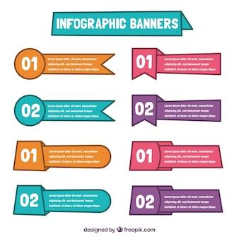 Nützliche Infografik Banner Pack