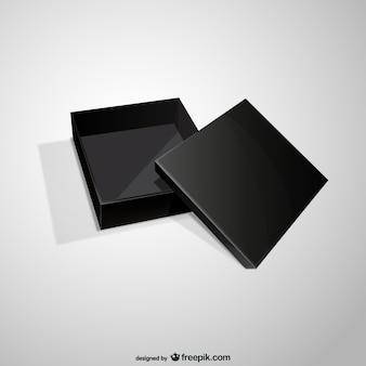Öffnen Sie schwarzen Kasten