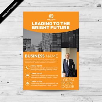 Orange Business Broschüre Design