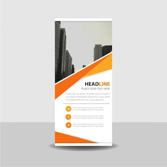 Orange kreative Roll up Banner-Vorlage