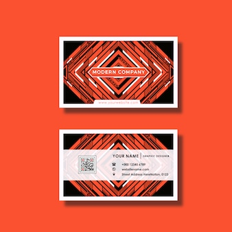 Orange Visitenkarte Design