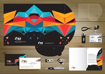 Ordner-Template-Design für Digital-Technologie-Unternehmen. Element des Briefpapiers, Leute-Gemeinschaftsfreunde-Darstellungsdesign benutzt für Geschäft oder Arbeitsförderung,