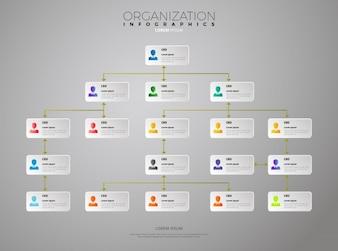 Organisation Infografische Vorlage