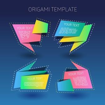Origami-Stil Textvorlagen