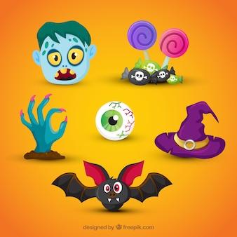 Original Pack von Spaß Halloween Elemente