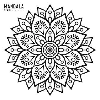 Ornament schöne Karte mit Mandala Geometrische Kreis Element in Vektor gemacht