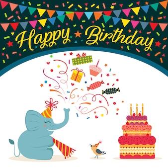 Ornamental Geburtstag Hintergrund