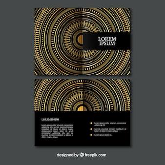 Ornamental goldenen Kreise Flyer